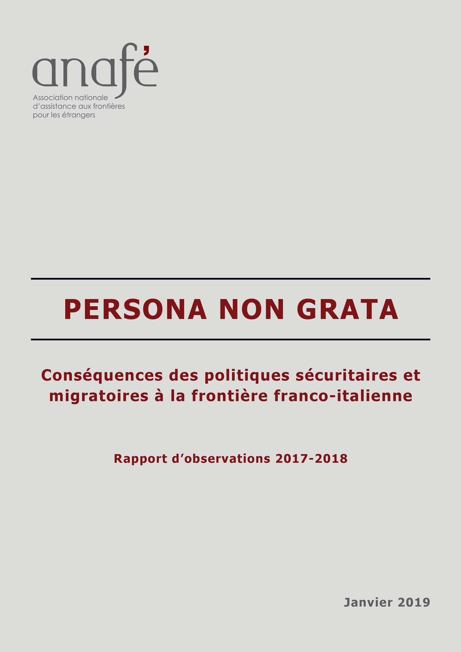 Refugee Rights Europe Pushbacks France-Italy Persona Non Grata